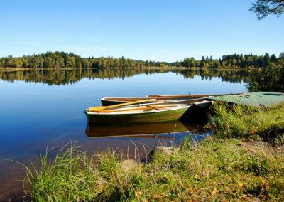 Landschaftsfotos Boote am See Webfoto-Oberland