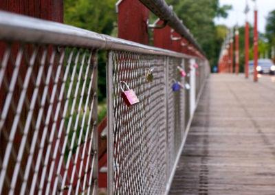 Liebesschlösser Brücke München Webfoto-Oberland